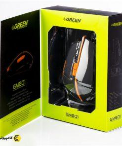 ماوس گیمینگ گرین مدلGM601 جعبه
