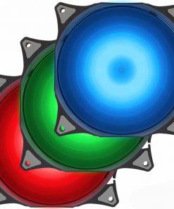 فن کیس گرین مدل GF120-RGB رنگها