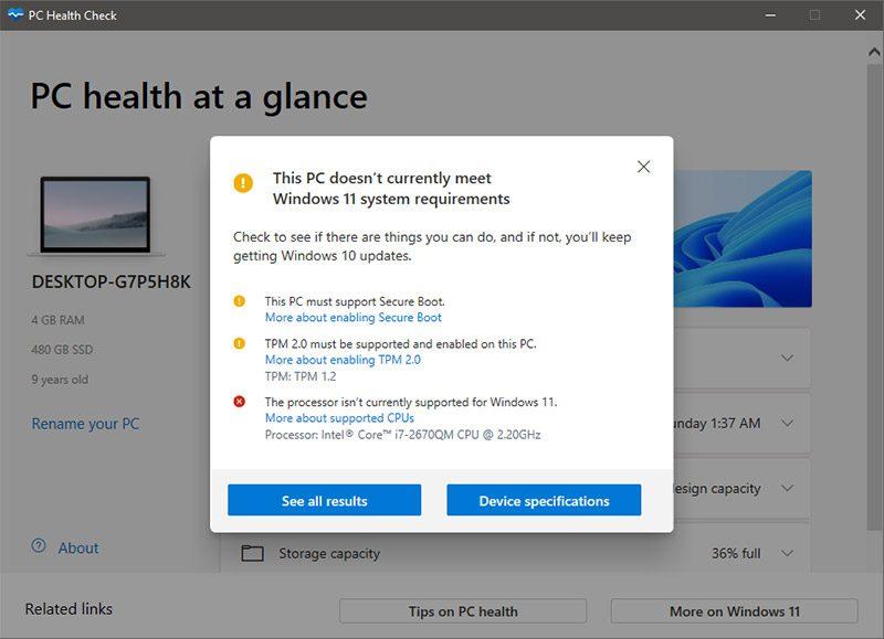 کامپیوتر شما از ویندوز ۱۱ پشتیبانی می کند؟
